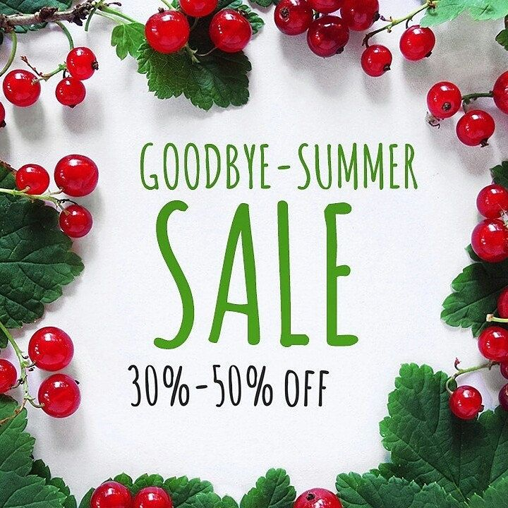 """Goodbye-Summer Sale all 30% off. Coupon code """"GOODBYESUMMERSALE"""" valid only today and tomorrow :)"""