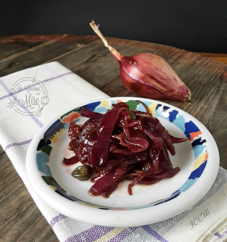 Contorno delizioso le Cipolle rosse di Tropea all'aceto balsamico #gialloblog #ricetta #foodporn #foodie #food #good #incucinaconmire #cipolleditropea