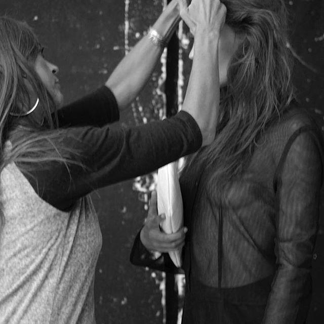 Another behind the scenes from our AW15 shoot - @monikagrensteen working her hair magic ✔️
