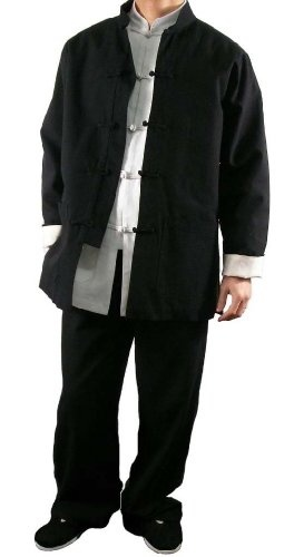 Awesome New Premium Linen Black Kung Fu Martial Arts Taichi Uniform Suit Tailor Custom Made - FREE SHIPPING Best Deals