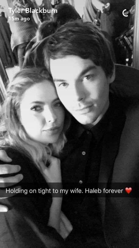 PLL Finale - Haleb Forever - Tyler Blackburn snapchat ( thetblackburn ) does that mean they get married