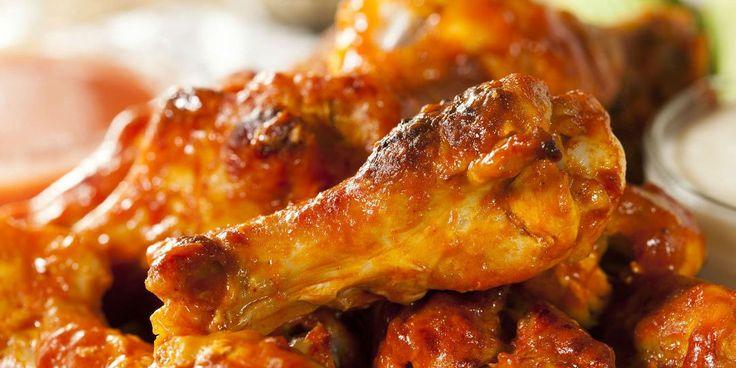 Φτερούγες κοτόπουλου μαριναρισμένες σε ουίσκι