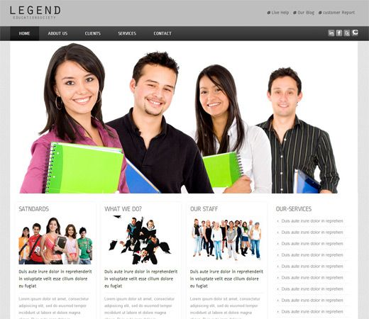 16 best education school responsive mobile web templates images on legend college mobile website template by pronofoot35fo Choice Image