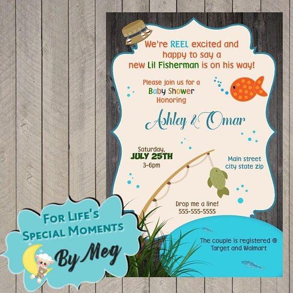 Fish Themed Baby Shower Invitations: Best 25+ Fishing Baby Showers Ideas On Pinterest