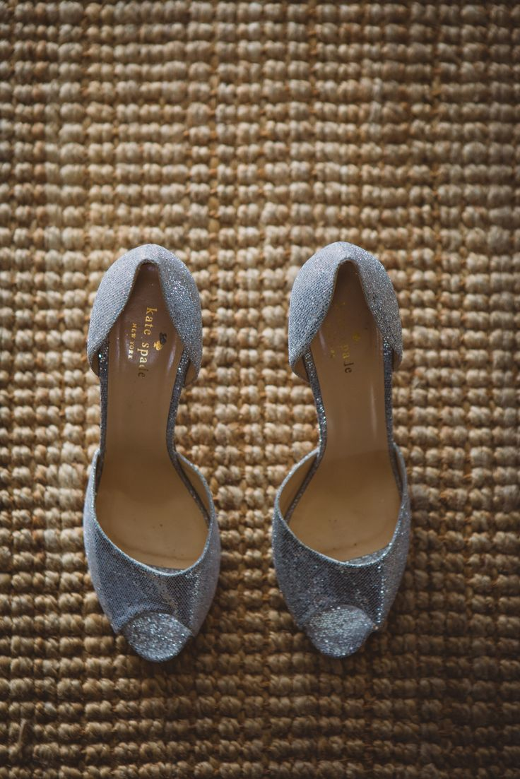 Kate Spade shoes. Bridal shoes. Silver shoes. Image by Gavin Casey