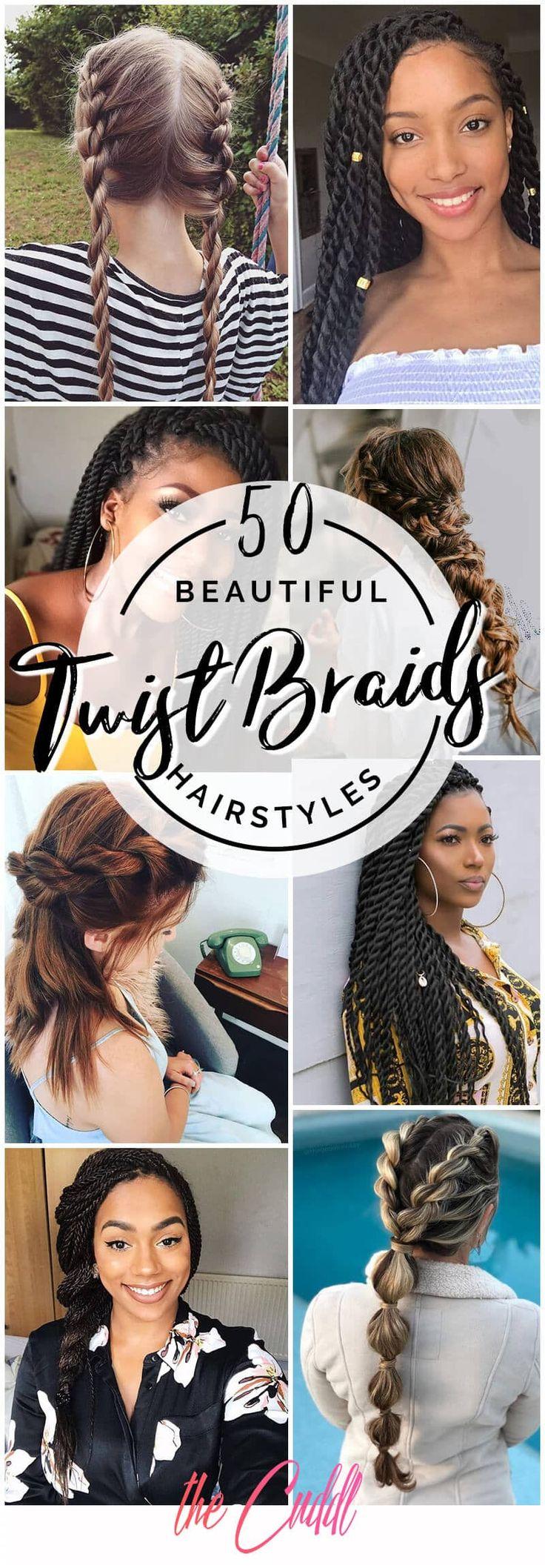 50 schöne Möglichkeiten, Twist Braids für alle Haar Texturen zu tragen