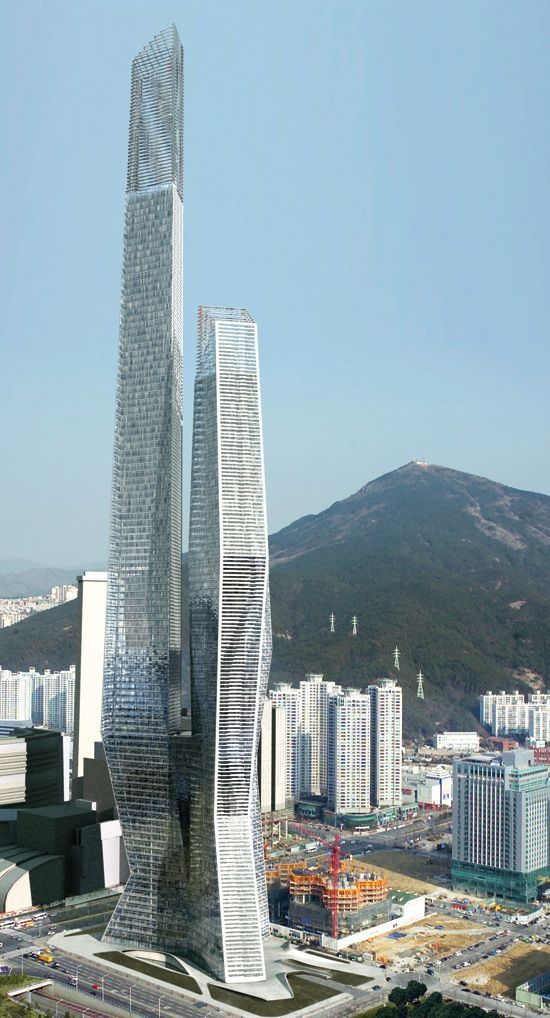 Millennium Tower Business Center, Busan,South Korea, -  Asymptote Architecture