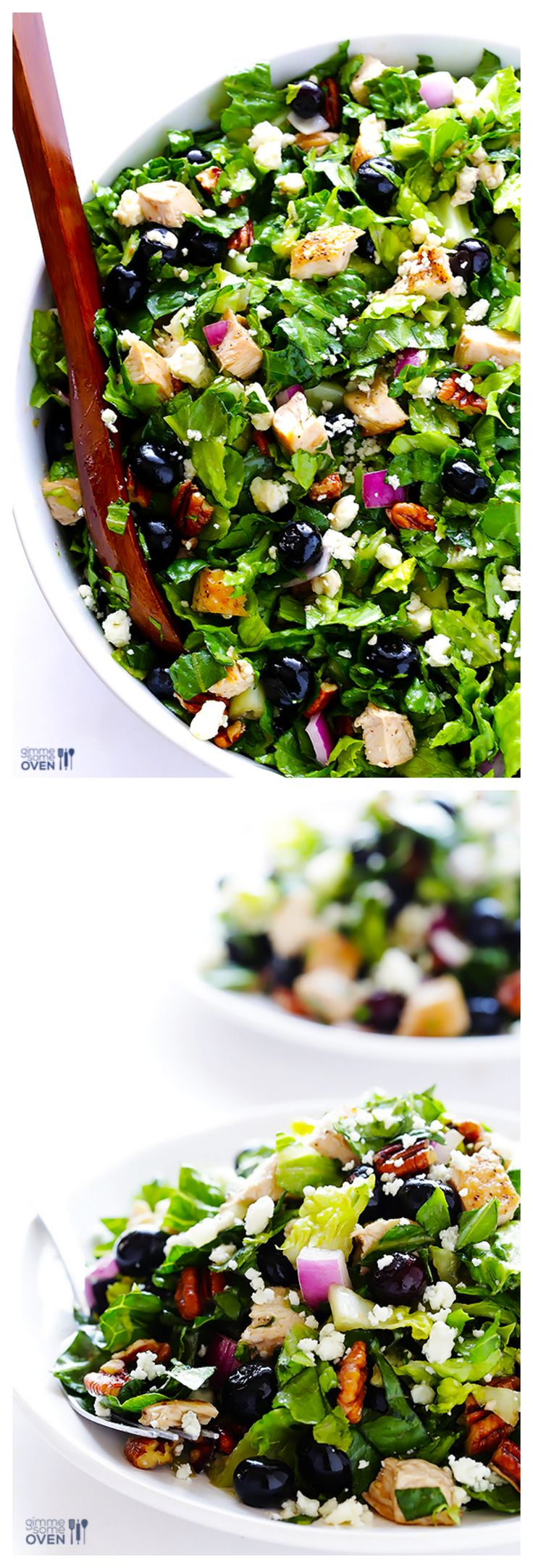 Blueberry Chicken Chopped Salad -- fresh, easy, and ridiculously good | gimmesomeoven.com #salad #recipe #summer
