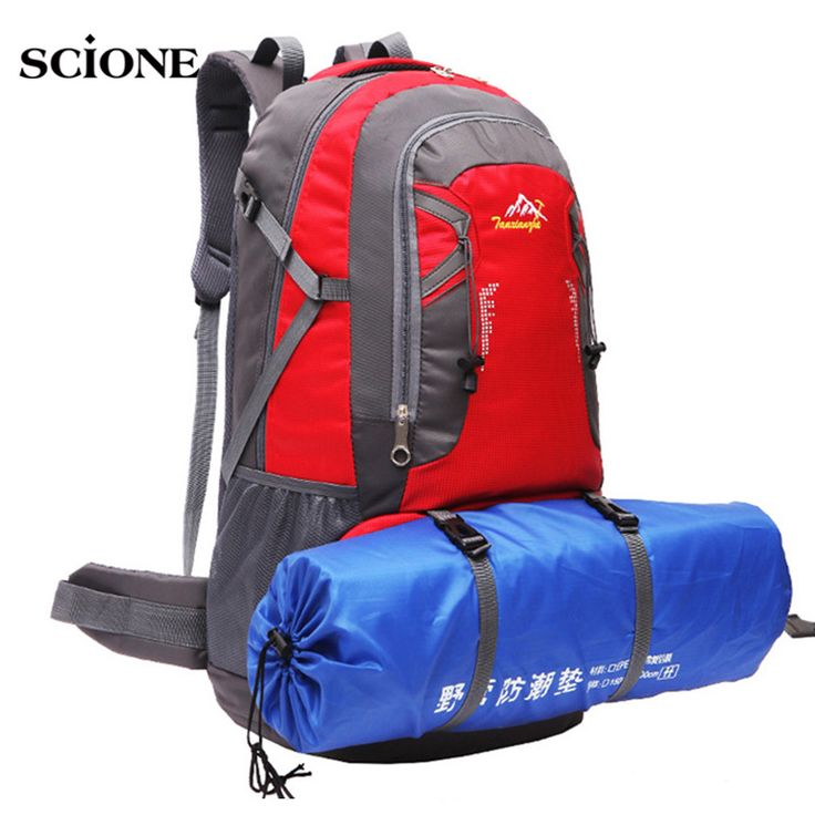 60L Large Capacity Couples Outdoor Sports Backpack Nylon Patchwork Hiking Camping Mountaineering Teenage Girls Rucksack XA1419A