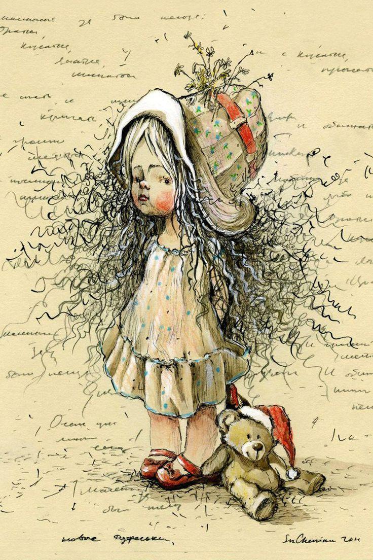 Открытка на иллюстратора, бумаги открытка