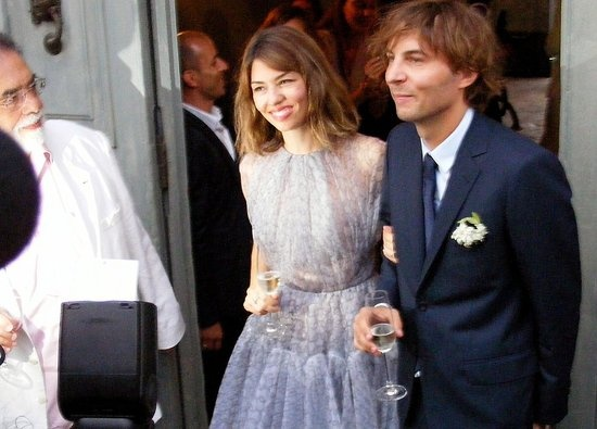 Sofia Coppola and Thomas Mars were married on August 27, 2011, in Italy. Sophia's dress was designed by Azzedine Alaïa.