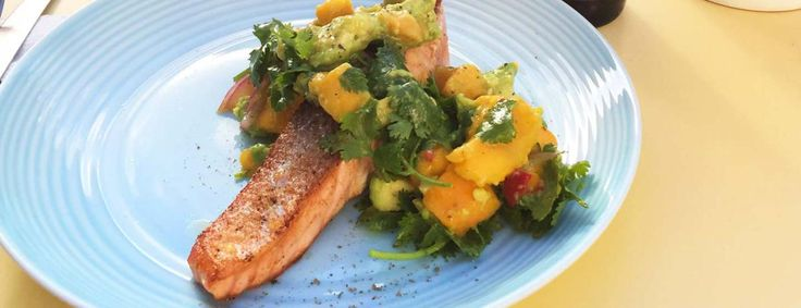 Salmon with a mango salsa   Low Cholesterol Living