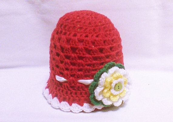 Handmade newborn hat kids Christmas hat crochet by HandmadeTrend
