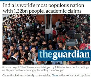 Η Ινδία ξεπέρασε(;) σε πληθυσμό την Κίνα..