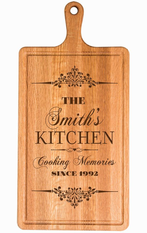 Personalized Cutting Board Custom Laser Engraved Cherry Chopping Block
