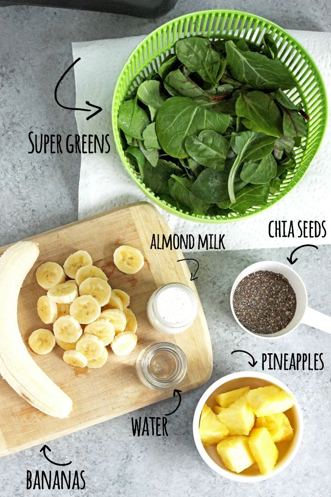 Super Green Cleansing Smoothie - An easy way to nourish your body and provide yourself with essential vitamins and minerals. NeuroticMommy.com #smoothies #plantbased #health