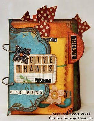 Adorable Mini Album! (Forever Fall) @Patti Milazzo #BoBunny
