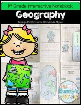 The Geography Interactive Notebook allows students to play an active role in their learning. The activities in this resource can be used to introduce or practice the Georgia Performance Standards: SS1G2 The student will identify and locate his/her city, county, state, nation, and continent on a simple map or