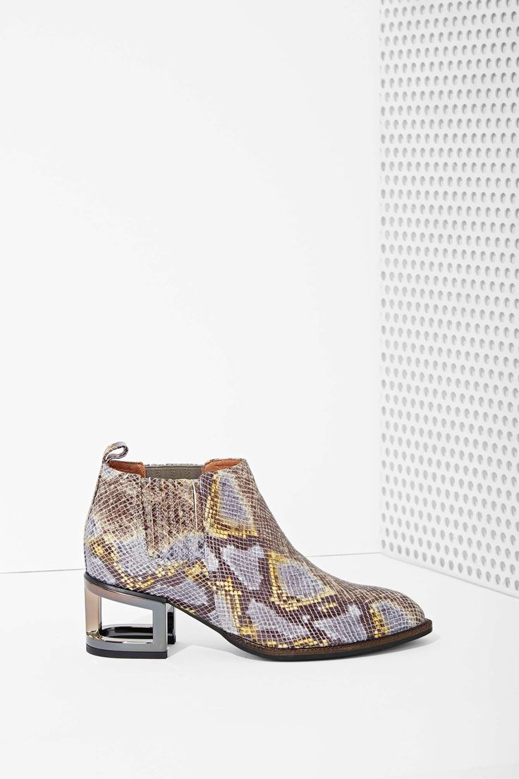 Jeffrey Campbell Metcalf Leather Boot - Snake | Shop Shoes at Nasty Gal