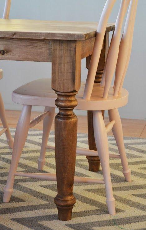 Best 25 farmhouse table legs ideas only on pinterest for Farm table legs diy