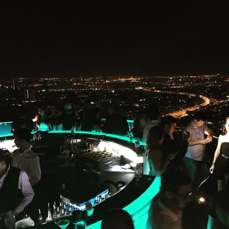Lebua Bar at State Tower, Bangkok, Thailand. Hangover (movie) spot. The Dome.