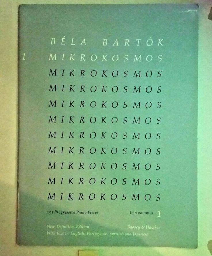 Boosey & Hawkes Bartok Mikrokosomos Vol. 1 - Piano Classical