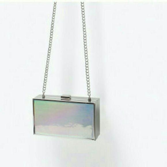 Zar vinyl clutch box (4812) New with tag. Zara Bags Crossbody Bags
