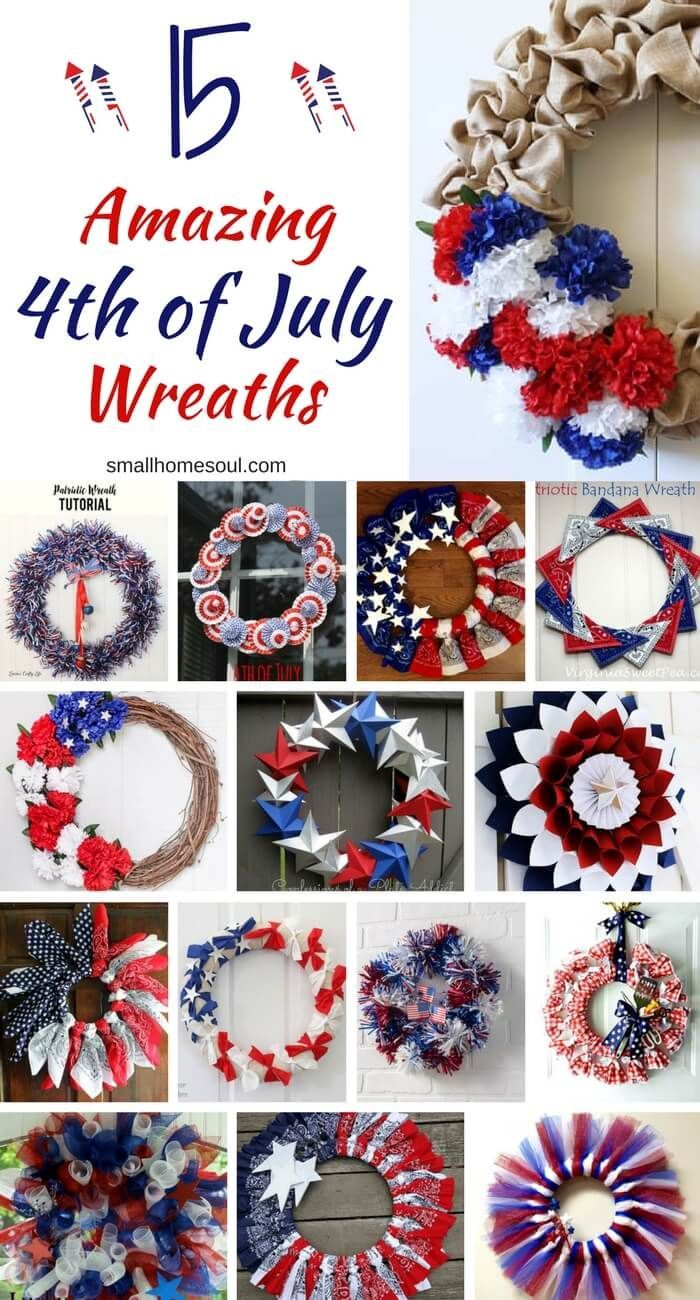 15 Easy Patriotic Wreaths for Fast Holiday