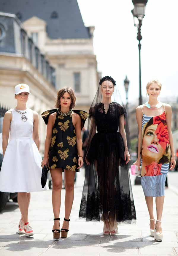 """""""The Russian fashion girls strike again with four game-changing looks.""""    Read more: Fall 2012 Couture Street Style - Paris Couture Street Style Photos - Harper's BAZAAR"""