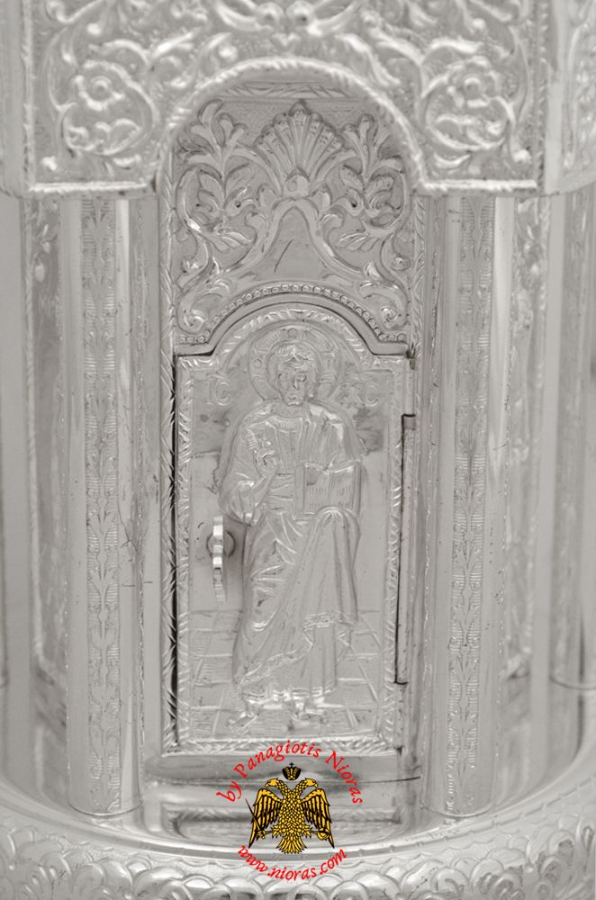 Silver 925 Metal Orthodox Church Tabernacle Hand Made in Greece, Holy Table Tabernacle, www.Nioras.com - Byzantine Orthodox Art & Greek Traditional Products - Byzantine Christian Icons, Mount Athos Incense, Orthodox Church Supplies, Wedding Gifts, Bookstore Supplies