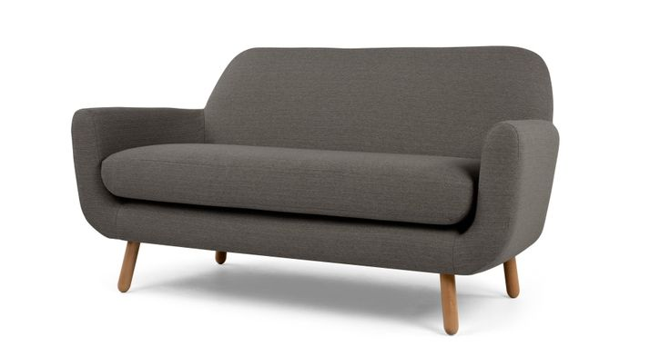 Jonah 2 Seater Sofa, Stone Grey | made.com