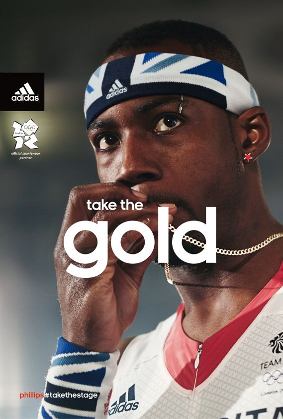 Adidas has released this simple but striking campaign as part of its Olympic advertising. Based around the tagline Take the Stage, it features photographic portraits of top British athletes...