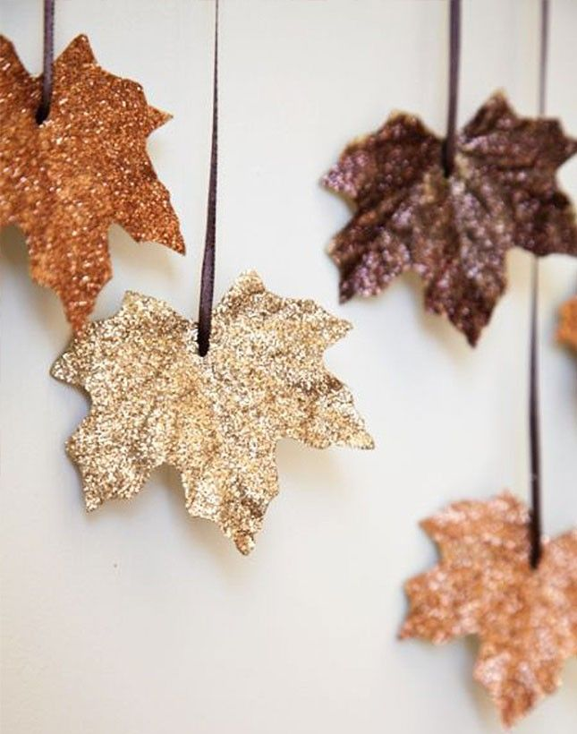 Get your DIY on + make these gilded leaves.