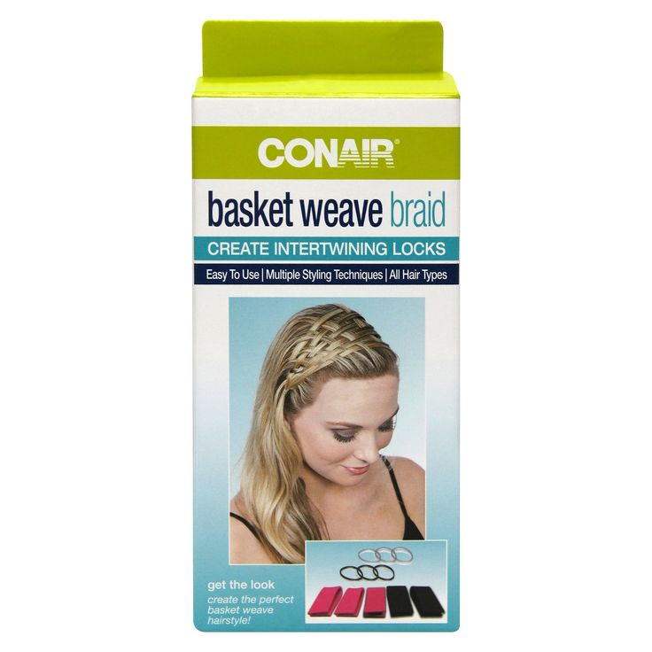 The Conair Basket Weave Braid Strips hold your hair in place as you create a basket weave hairstyle with your own hair. The Basket Weave Strips can be used on all hair types and can help design a multitude of weaving styles