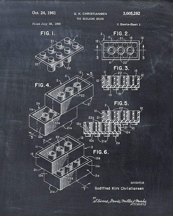 Dit is een afdruk van het octrooi tekening voor een Lego speelgoed bouwstenen octrooi in 1958. Het originele octrooi is opgeschoond en verbeterd om te maken een aantrekkelijke display stuk voor uw huis of kantoor. Dit is een geweldige manier om uw interesses en hobbys tentoongesteld. Prachtig cadeau idee ook. De afbeelding wordt afgedrukt op professionele, zure gratis, archivering mat fine art papier geven de afbeelding rijke en levendige kleuren. Prints zijn verpakt in zuurvrij…