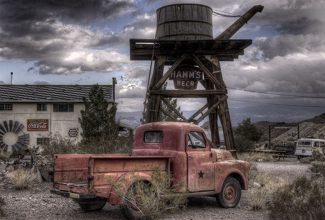Abandoned ghost town in Nelson, Nevada.