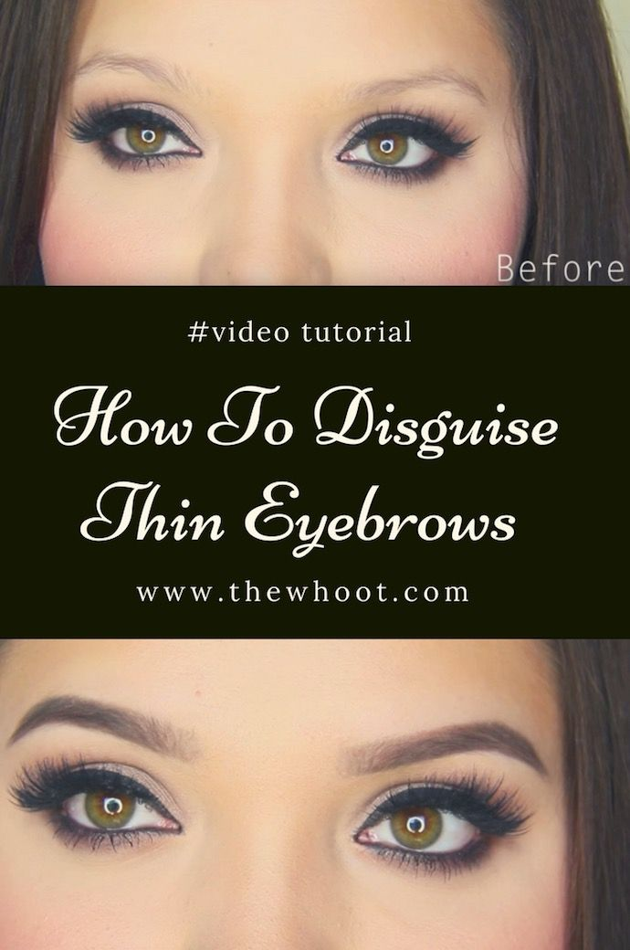 Eyebrow Tutorial For Thin Eyebrows Video Instructions With Images