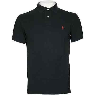 Ralph Lauren Custom Fit Mens Black Polo Shirt Size 3XLT Big & Tall NWT