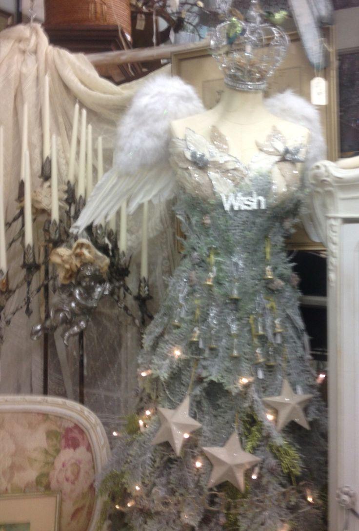 #christmas Tree #dress Form#vintage#my Little French Venue#vignettes#