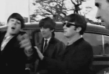 Paul- i'm falling John help me! John- (sarcastic way) Yeah, okay princess George- Wait, what, oh well I'll help catch him anayway