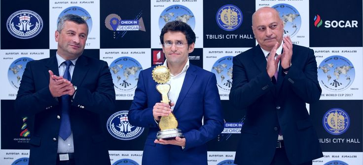 Levon Aronian wins the FIDE World Cup 2017. The closing ceremony took place in the Biltmore Hotel in Tbilisi on 27th of September 2017. The players and guests were greeted by the Minister of Sport and Youth Affairs of Georgia Tariel Khechikashvili, the ECU President Zurab Azmaiparashvili, the President of Georgian Chess Federation Giorgi Giorgadze, the former Women's World Chess Champion Nona Gaprindashvili and the FIDE Vice President Gulkiz Tulay.