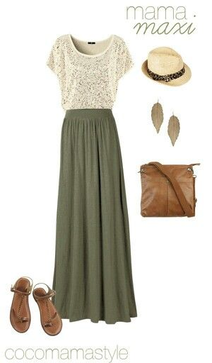 earrings are great, love the relaxed style of the maxi and the lacy top