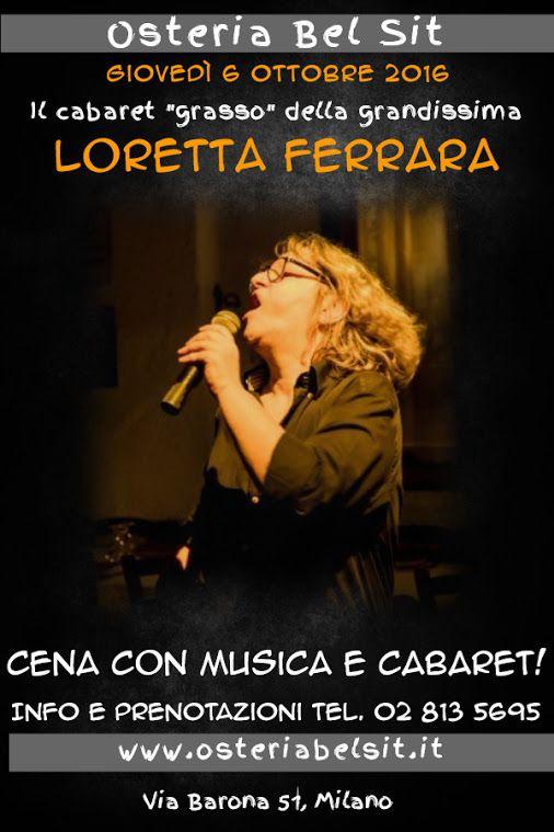 Giovedì 6 ottobre Loretta Ferrara Osteria Bel Sit - Google+