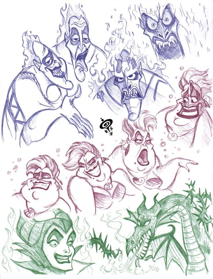 ursula draw Buscar con Google disney villains