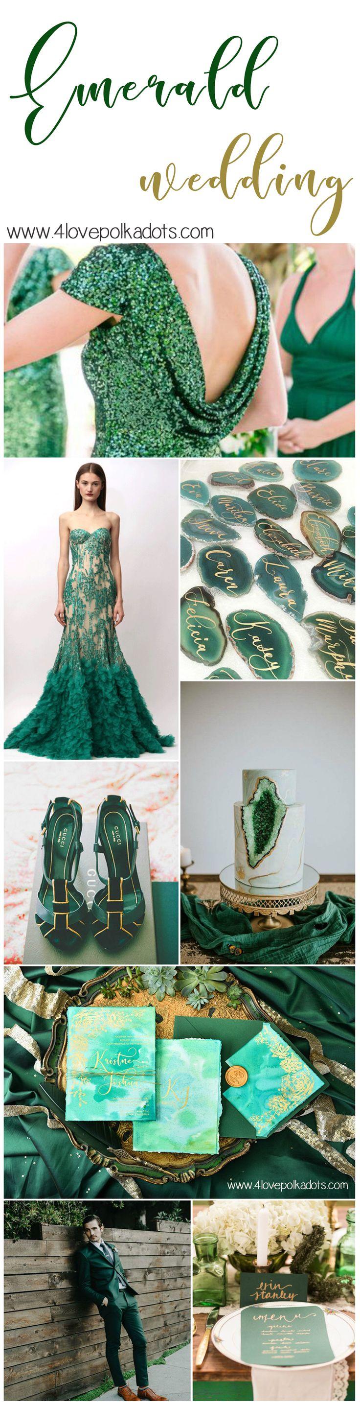 Emerald #wedding #emerald #emeraldwedding #bridetobe #wedding #greenwedding #amazing #bridetobe #bride #weddingdress #greenwedding #greenery
