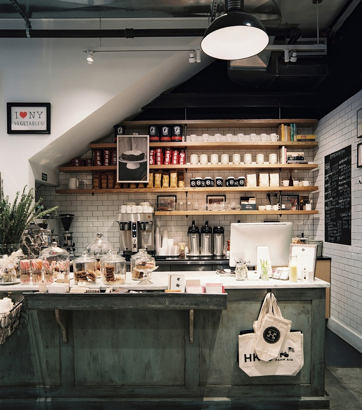 Cool Idea For Use Under The Stairs Rb Tile Wall Photo   White Subway Tile  And Open Wooden Shelving In A Coffee Bar