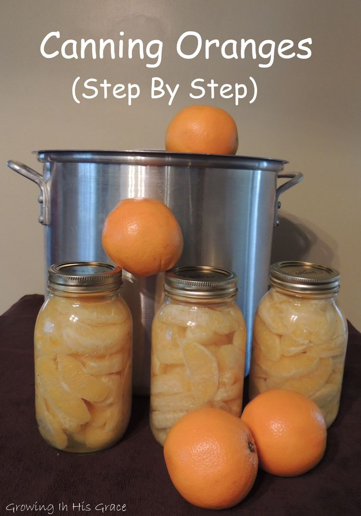 Did you know you can preserve oranges by water bath method?  Yes!  This tutorial has lots of pictures and a chart for altitude adjustment.