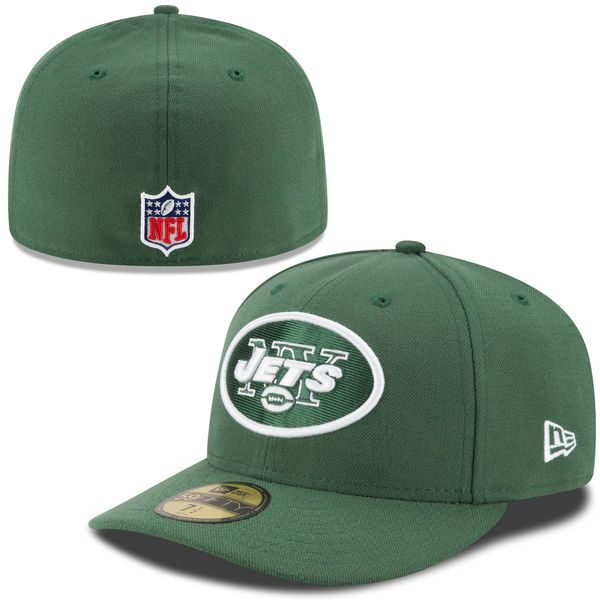 Men's New York Jets New Era Green On-Field Low Crown 59FIFTY Fitted Hat,