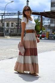 Image result for faldas largas