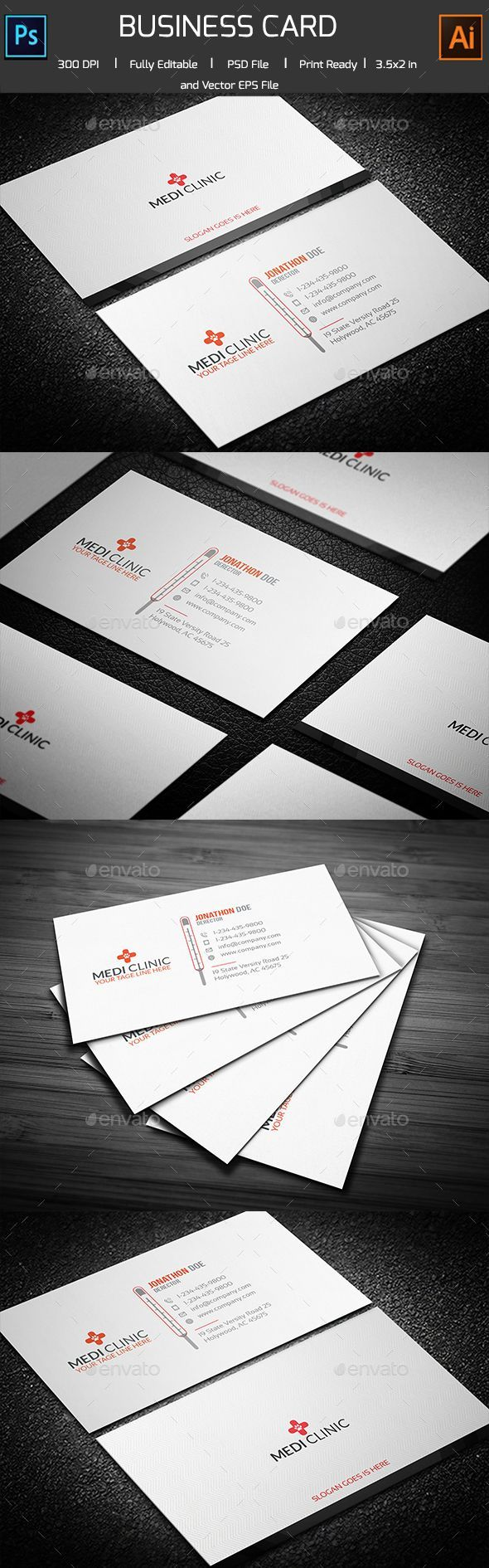 23 best business card design images on pinterest business card medicalthermal business card template download here httpgraphicriver reheart Choice Image